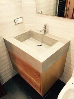 Proyectos del hogar lavabo en microcemento - Lavabo microcemento ...