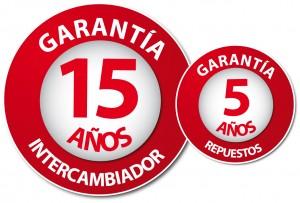 Garantia 15 y 5 años